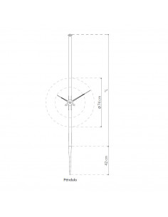 Nomon clock Péndulo t of graphite steel and walnut wood
