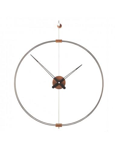 mini Barcelona clock with wooden hands